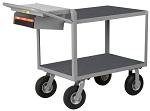 2 Steel Flush Shelf Cart with Non-Slip Vinyl Surface