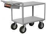 2 Steel Flush Shelf Cart