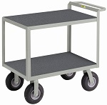 2 Steel Flush Shelf Instrument Cart with Non-Slip Vinyl Surface