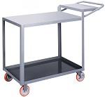 2 Steel Flush Top Order-Picking Cart