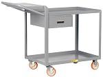 2 Steel Lip Edge Shelf Order-Picking Cart with Storage Drawer