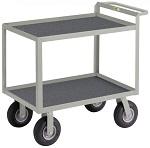 2 Steel Lip-up Shelf Instrument Cart with Non-Slip Vinyl Surface