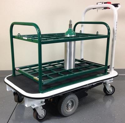 24 Medical Gas Cylinder Motorized Platform Cart For M7 M9