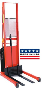 Powered Stacker-Fork Style 1000 LB Capacity