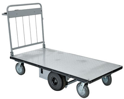 Battery powered platform cart free shipping for Motorized hand truck dolly