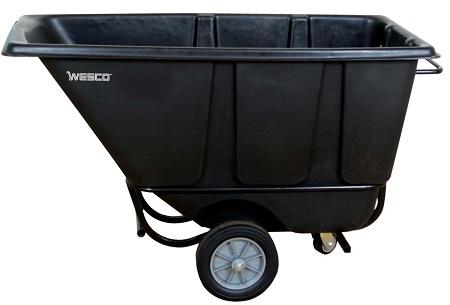 1/2 Cubic Yard Black Tilt Cart