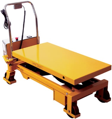 "770 lb Electric Double Scissor Lift Table 20"" x 35"" with 51"" Lift"