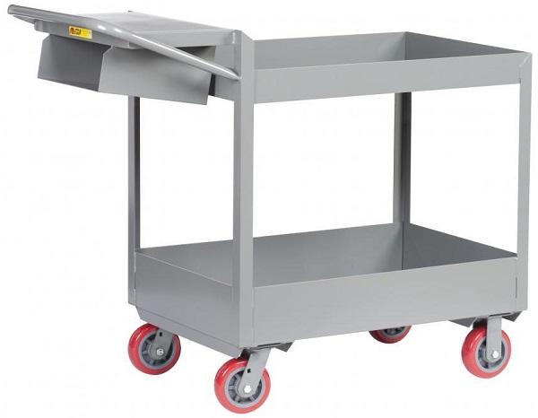 "3"" Deep 2 Shelf Order Picking Cart"