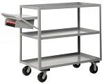 3 Heavy Duty Lip-Up Shelf Cart - 3600 lbs Capacity