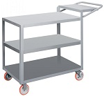 3 Steel Flush Shelf Cart