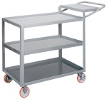 3 Steel Retaining Lip Shelf Cart