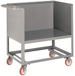 3-Sided Steel Box Platform Cart with Open Base - 1,200 lbs Capacity
