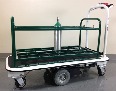 32 Medical Gas Cylinder Motorized Platform Cart For M7 M9