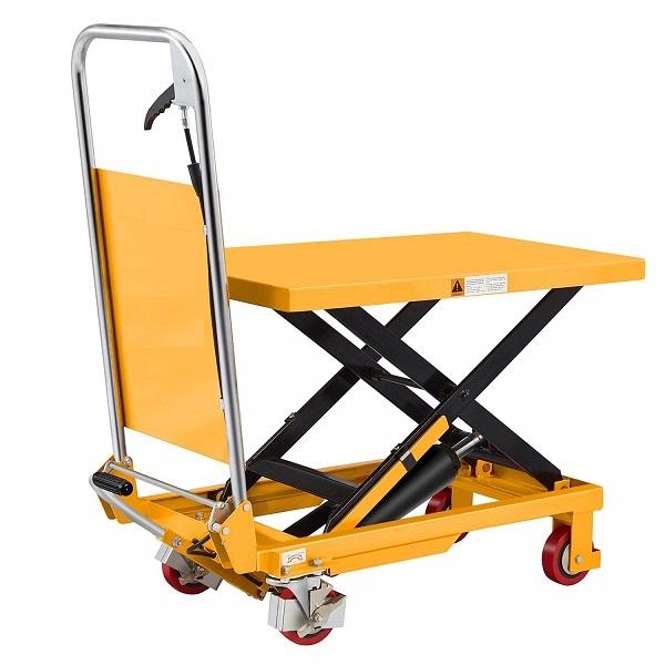 "330 lbs Capacity Manual Single Scissor Lift Table - 29"" Lift"