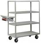 4 Heavy Duty Flush Shelf Cart - 3600 lbs Capacity