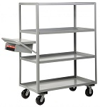 4 Heavy Duty Lip-Up Shelf Cart - 3600 lbs Capacity