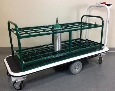 40 Medical Gas Cylinder Motorized Platform Cart For M7 M9