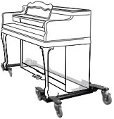 Spinet Piano Dolly - Adjustable