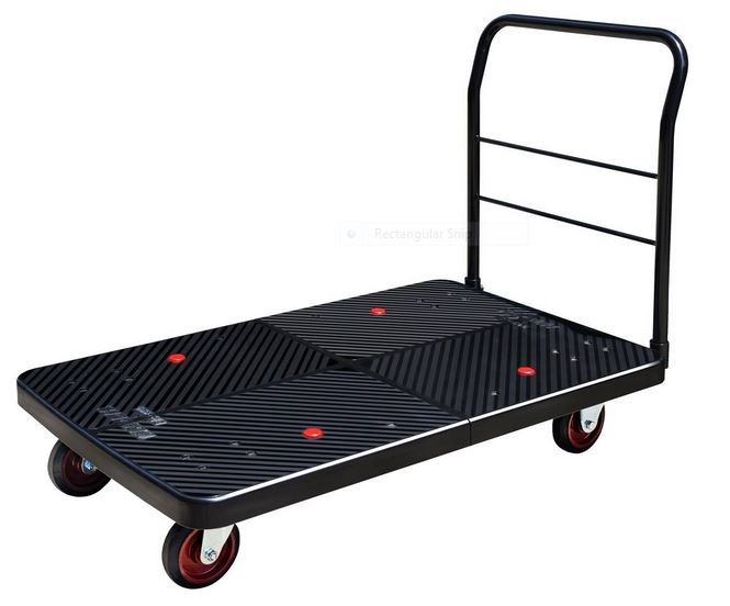 "Plastic Platform Cart 2600lb capacity 29"" Wide x 47"" Long"