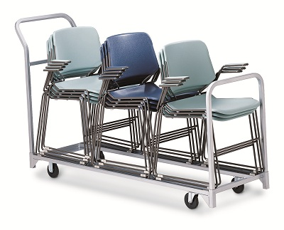 Folding and Stacking Chair Cart Combination