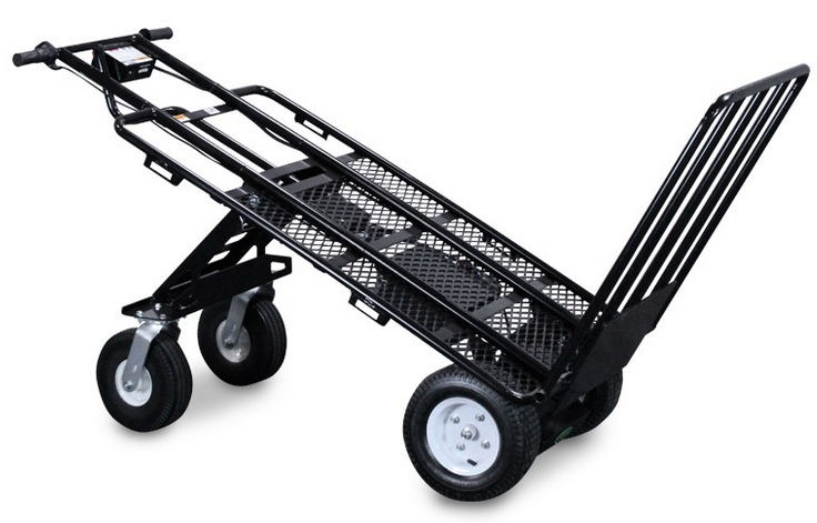 Power multi mover xt electric hand truck with all terrain for Motorized hand truck dolly