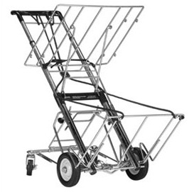 Norris Telecoping Cart with Upper Tray-400 lb Capacity