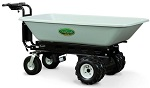 9 Cubic Ft Electric Dump Tray Cart with Power Dump