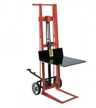 Two Wheel Hydraulic Platform Lift Truck-Foot Operated