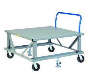 Adjustable Height Mobile Pallet Stand with Handle