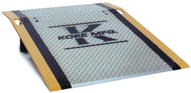 """HD 48"""" Wide x 48"""" Long Aluminum Dock Plate 4,750lb Capacity"""