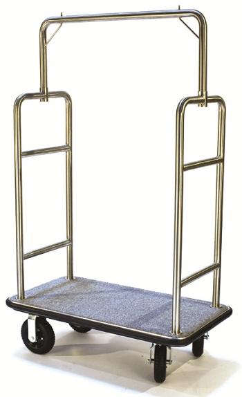 CSL Single Curved Bar Top Bellman Cart-Steel/Grey