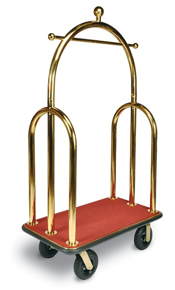 CSL Curved Style Bell Man Cart Red Carpet Gold Uprights