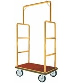 Bar Top Brass Hotel Bellman Luggage Cart