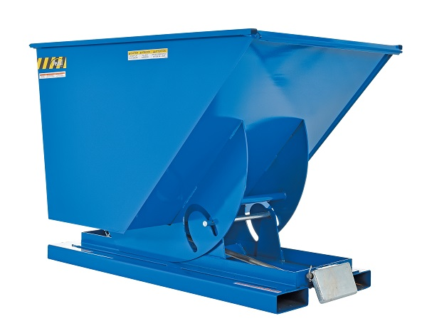 Self-Dumping Steel Hoppers with Bumper Release - 2000 lb Capacity