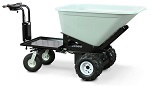 Electric Drive Dump Tray Cart with Platform