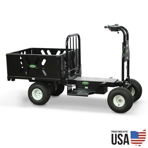 Electric Powered Ride on Cart - 10 Cubic Feet Steel Hopper