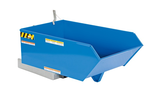 6000 lb Capacity - 90° Adjustable Self Dumping Steel Hopper