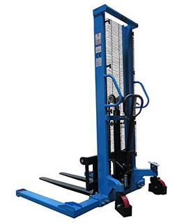2000lb Manual Fork Lift Truck with Outrigger Legs