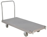 Heavy Duty Single Handle Plastic Platform Trucks
