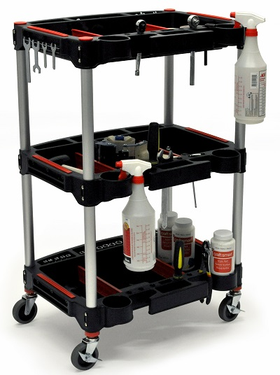 3 shelf mechanic and workshop rolling cart
