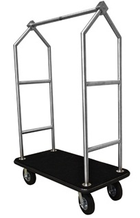 Monarch Brushed Stainless Hotel Luggage Cart