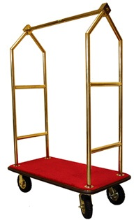 Monarch Titanium Gold-Plated Hotel Luggage Cart