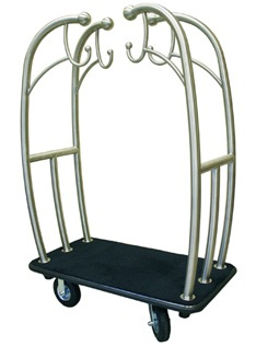 Monarch Bell-Man Cart Steel - Red or Black Carpet