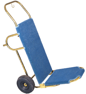 Titanum Gold Tube Luggage Hand Truck - Blue Carpet