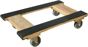 Wood 4-Wheel Piano H Dolly with Rubber Belting