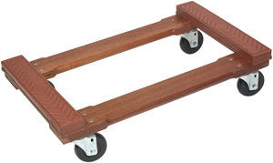 Monster Wood 4-Wheel Piano Dolly with Rubber Caps