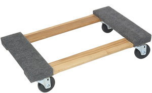 MONSTER WOOD DOLLY with CARPETED ENDS