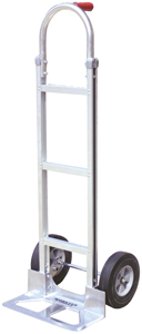 ALUMINUM Hand Truck WITH SOLID RUBBER TIRES (STICK HANDLE)