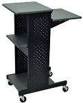 Mobile Presentation Work Station with 4 Laminate Work Surfaces