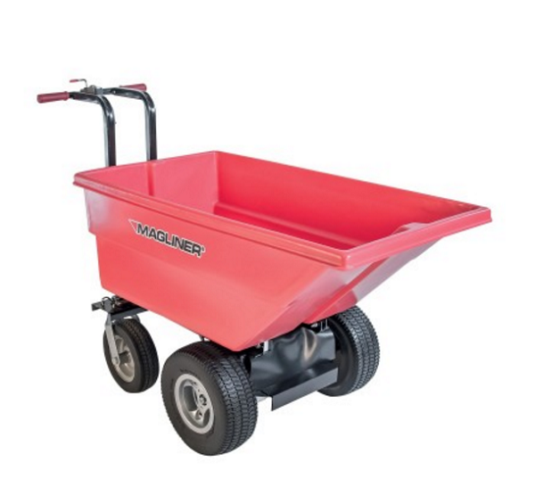 Motorized Battery Dump Cart - 6 Cubic Feet